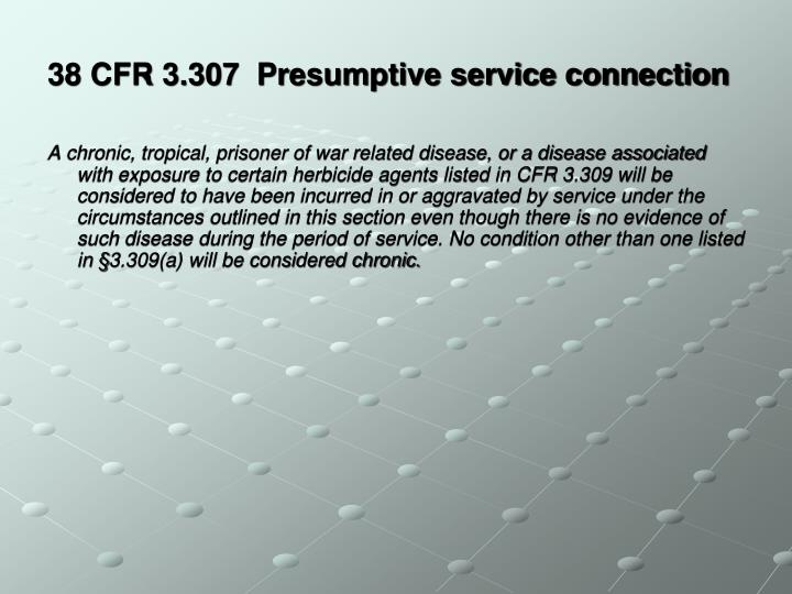 38 CFR 3.307  Presumptive service connection