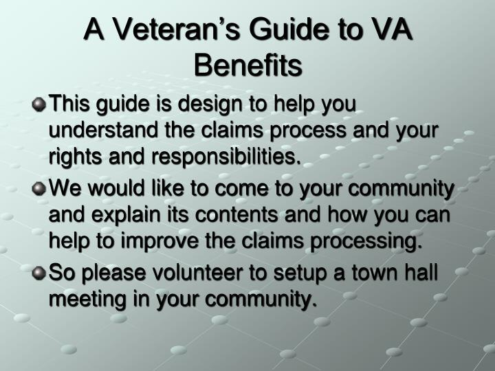 A veteran s guide to va benefits