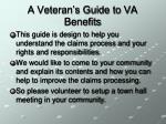 a veteran s guide to va benefits