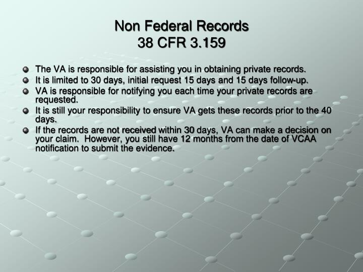 Non Federal Records