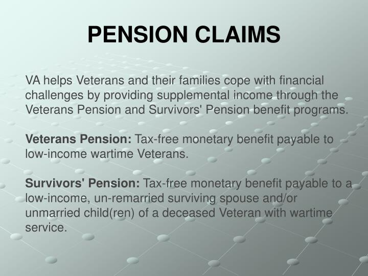 PENSION CLAIMS