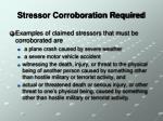 stressor corroboration required