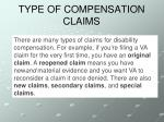 type of compensation claims