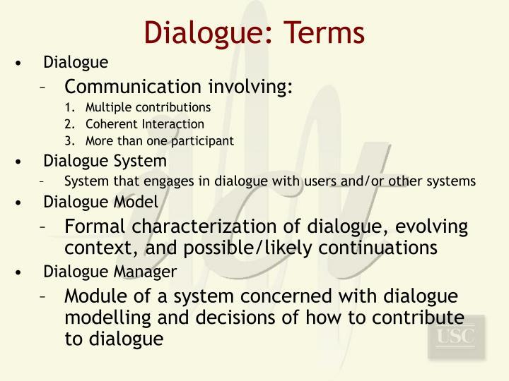 Dialogue: Terms