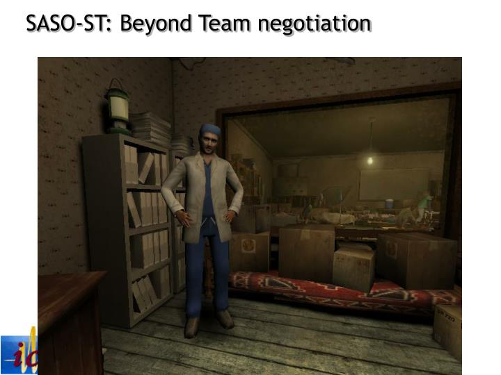 SASO-ST: Beyond Team negotiation