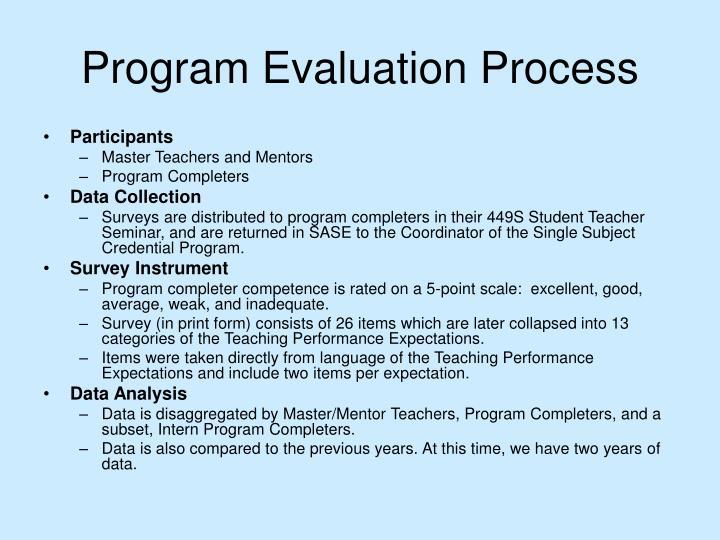 Program Evaluation Process