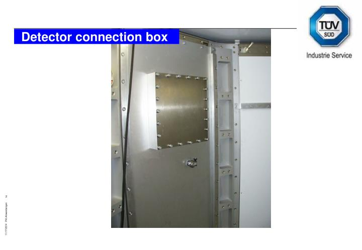 Detector connection box