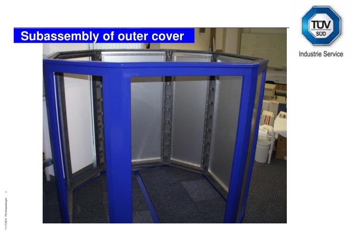 Subassembly of outer cover