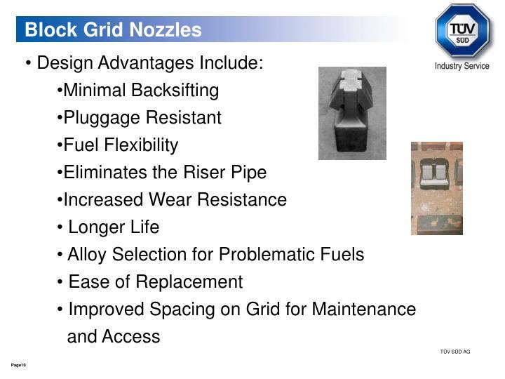 Block Grid Nozzles