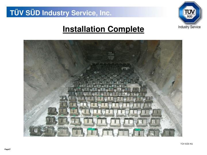 TÜV SÜD Industry Service, Inc.