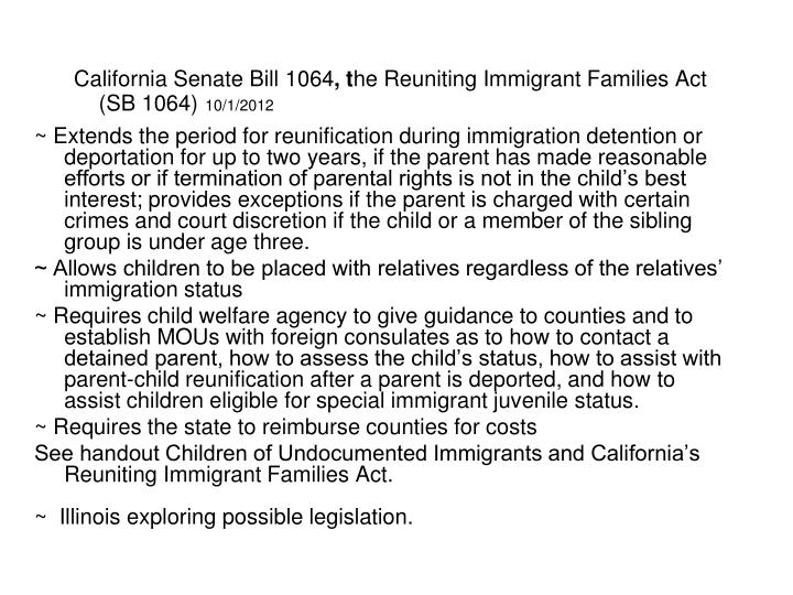 California Senate Bill 1064