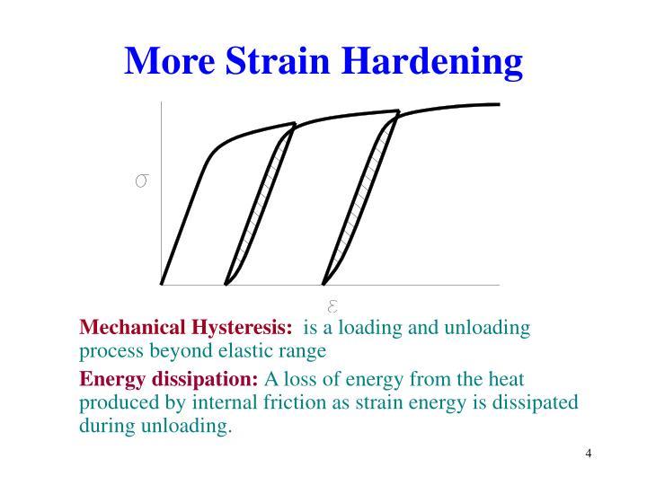 More Strain Hardening