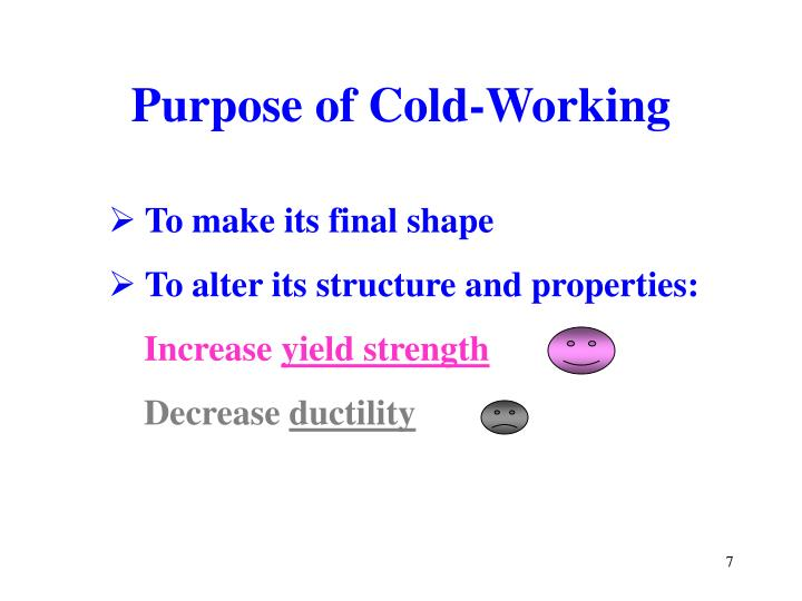 Purpose of Cold-Working
