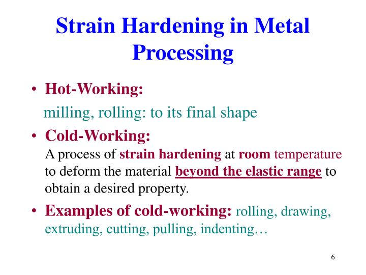 Strain Hardening in Metal Processing