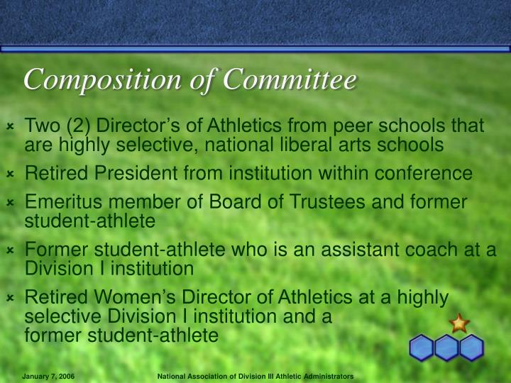 Composition of Committee
