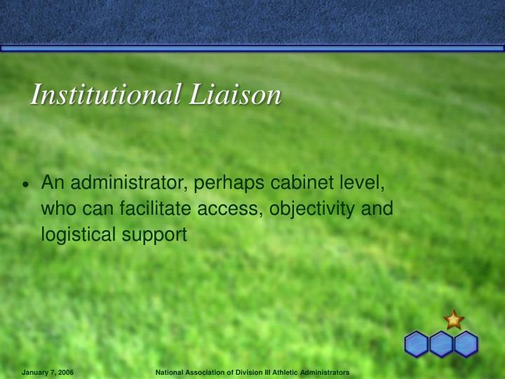 Institutional Liaison