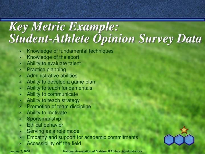 Key Metric Example: