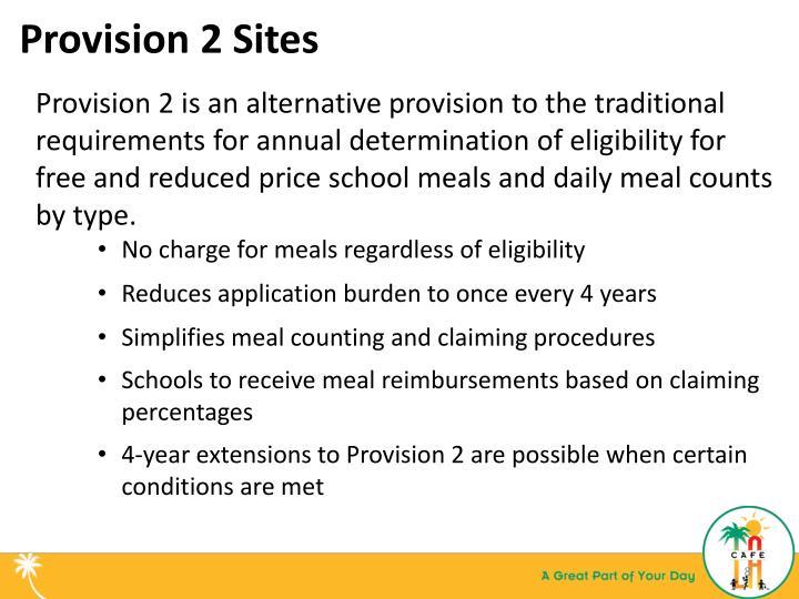 Provision 2 Sites