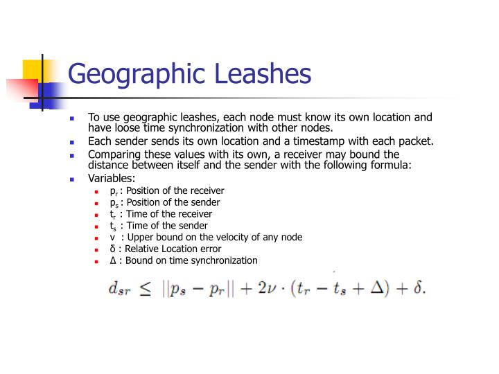 Geographic Leashes