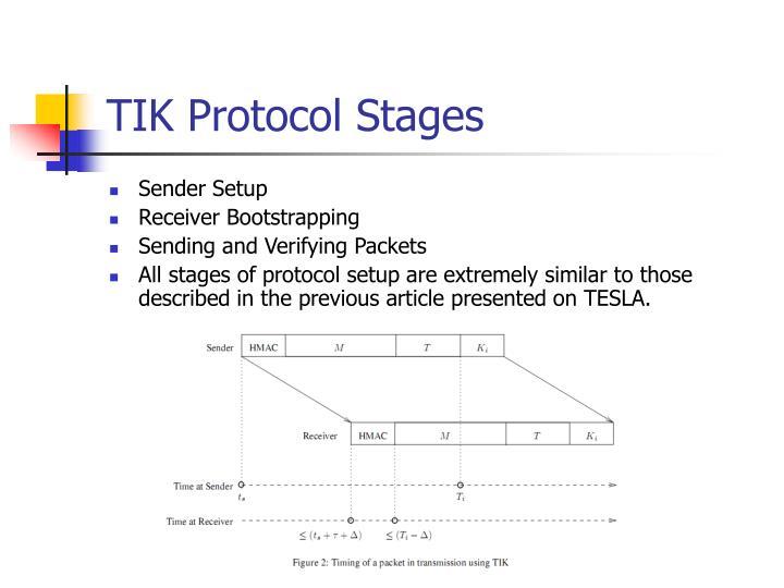 TIK Protocol Stages