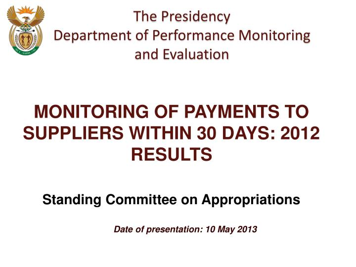 Date of presentation 10 may 2013