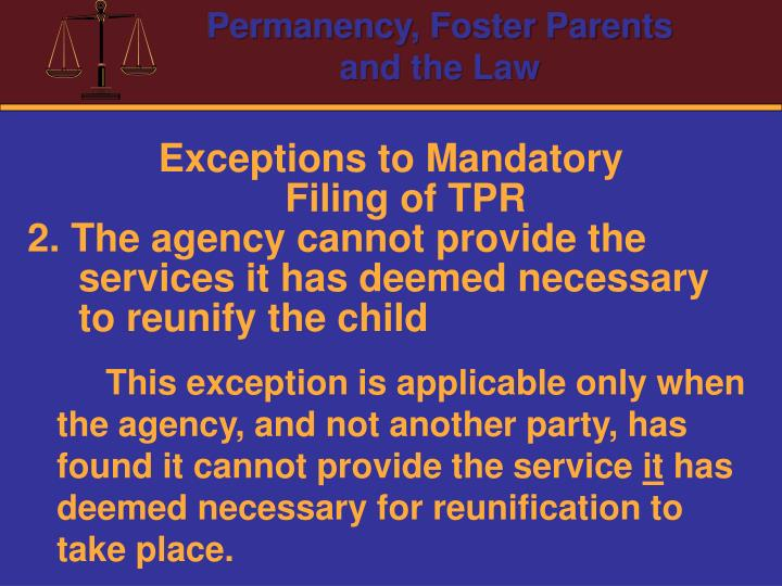 Exceptions to Mandatory