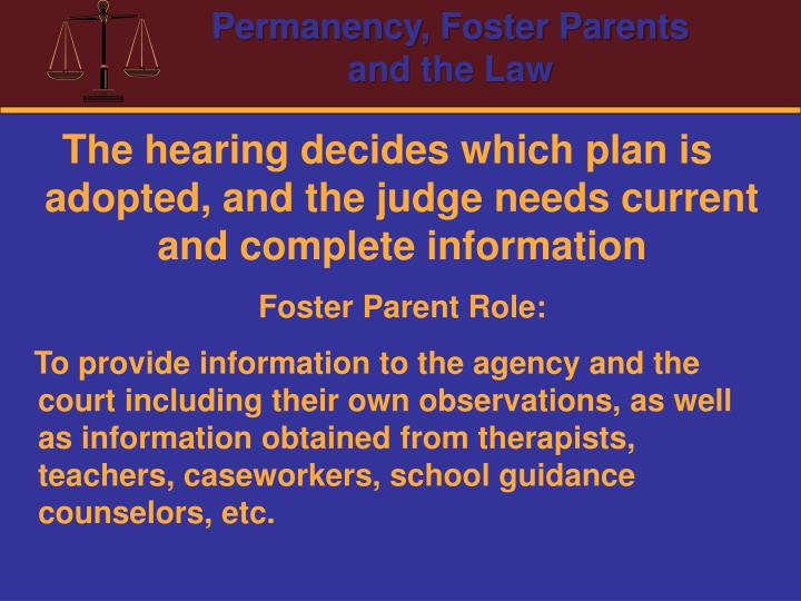 The hearing decides which plan is adopted, and the judge needs current and complete information
