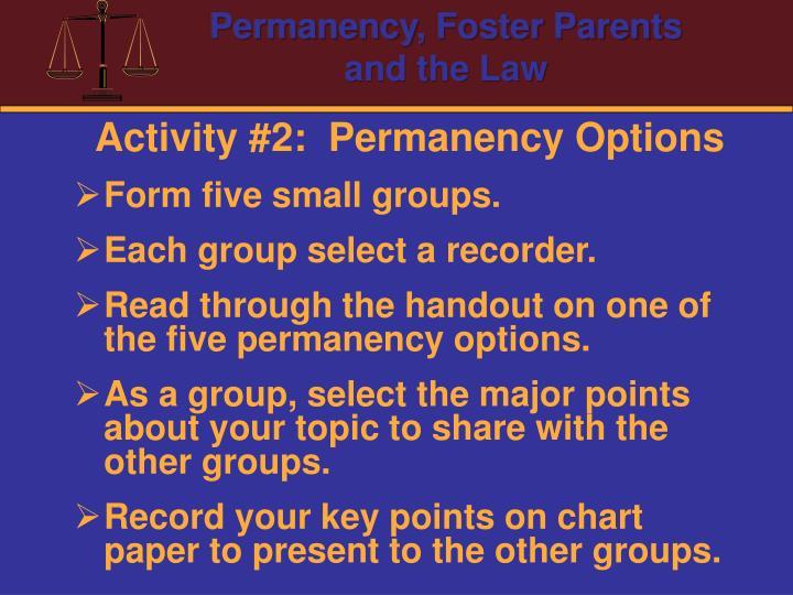 Activity #2:  Permanency Options