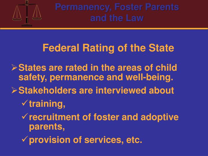 Federal Rating of the State