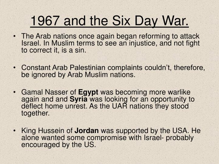 1967 and the Six Day War.