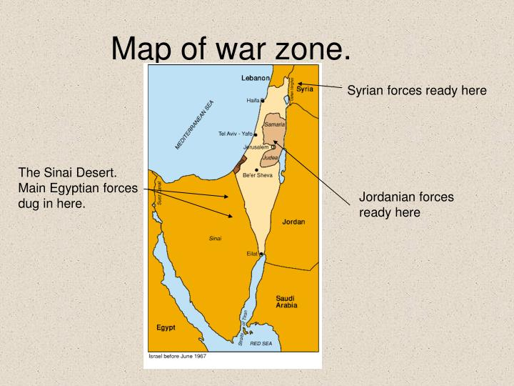 Map of war zone.