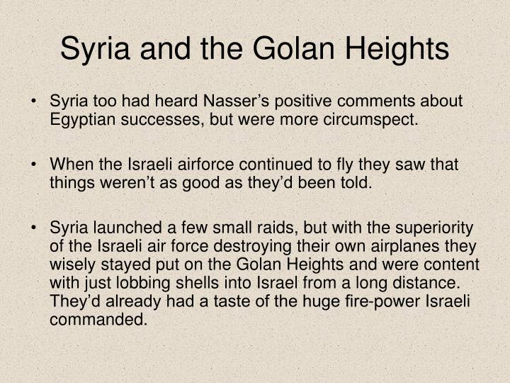 Syria and the Golan Heights