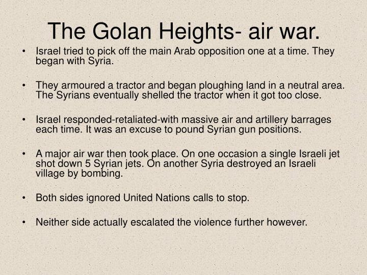 The Golan Heights- air war.