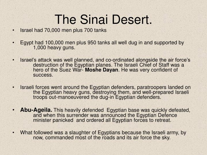 The Sinai Desert.