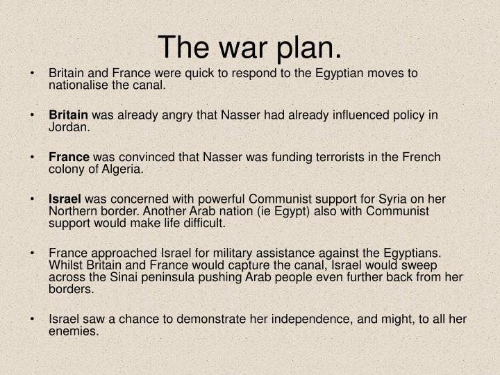 The war plan.
