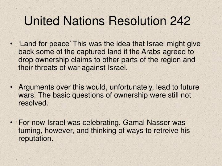 United Nations Resolution 242