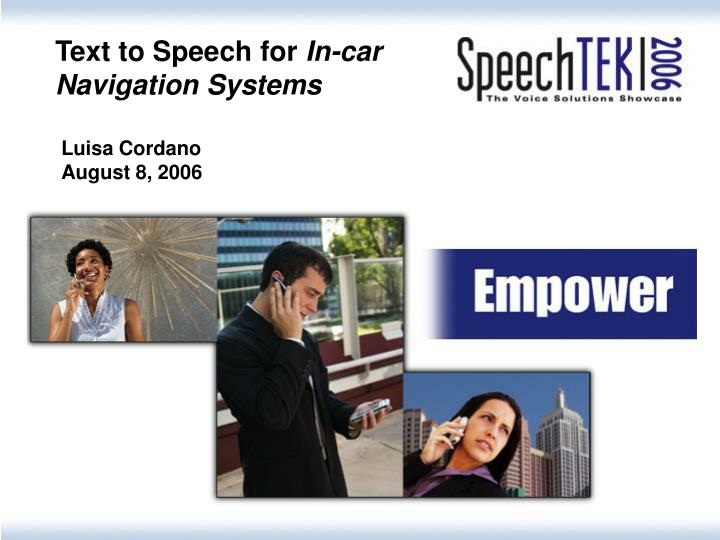 Text to Speech for