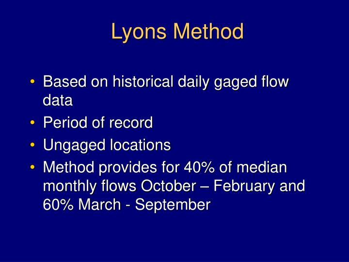 Lyons Method