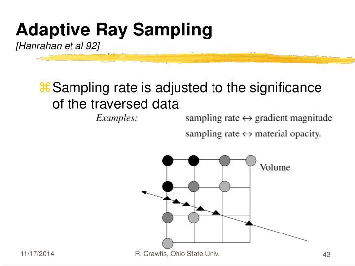 Adaptive Ray Sampling