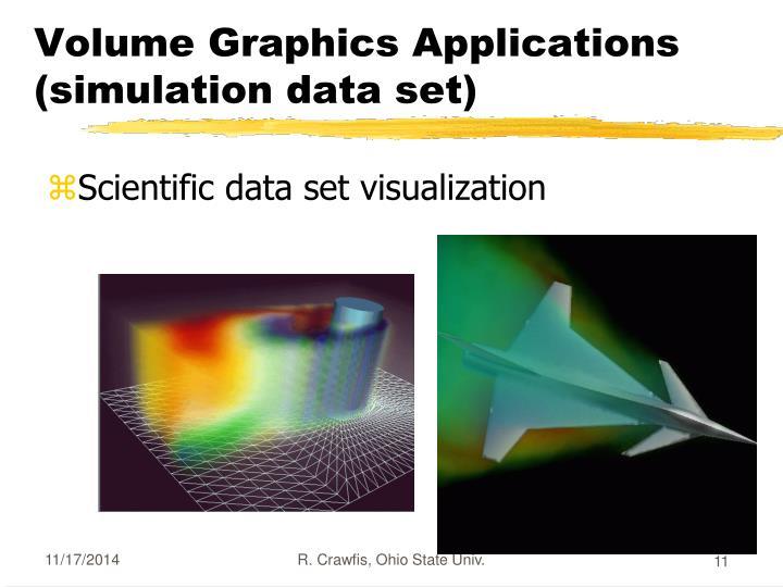 Volume Graphics Applications (simulation data set)