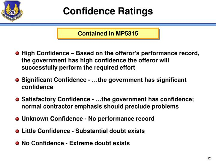 Confidence Ratings