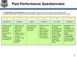 past performance questionnaire1