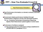 ppt how you evaluate it cont d