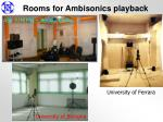 rooms for ambisonics playback