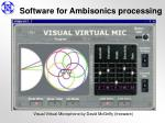 software for ambisonics processing