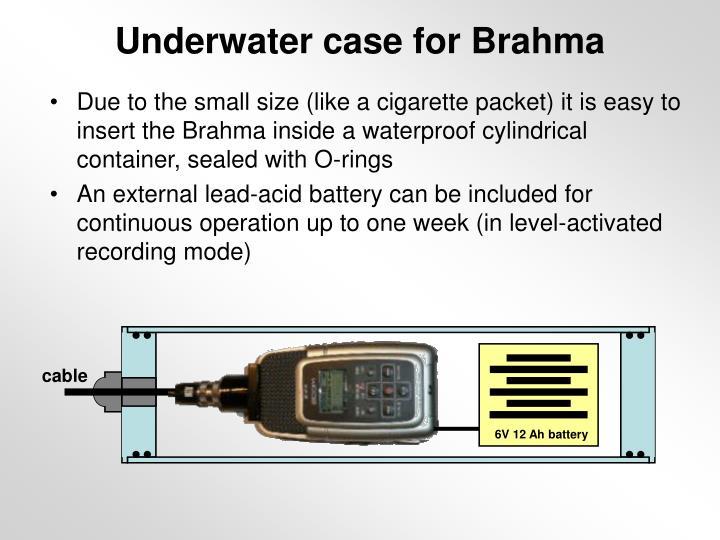 Underwater case for Brahma