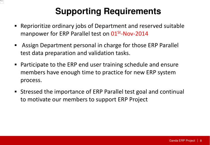 Supporting Requirements