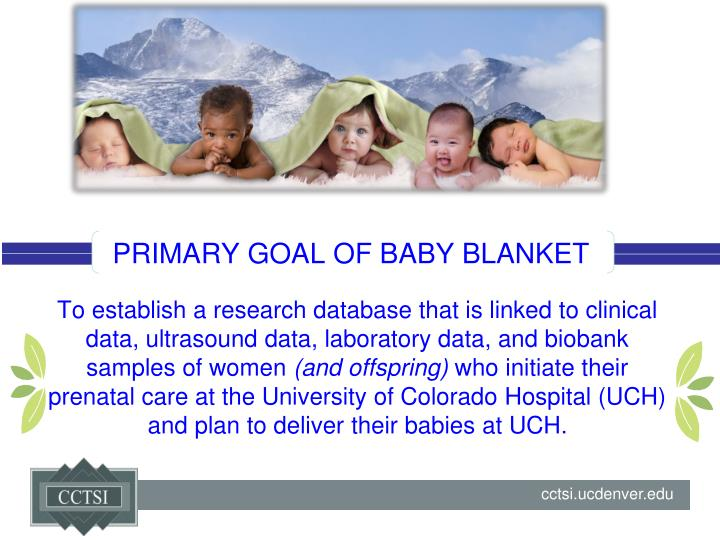 PRIMARY GOAL OF BABY BLANKET