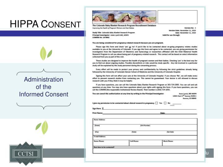 HIPPA Consent