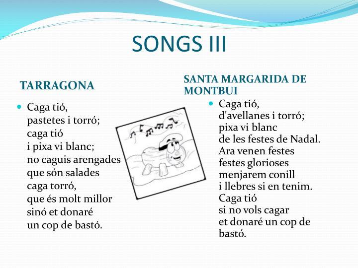 SONGS III